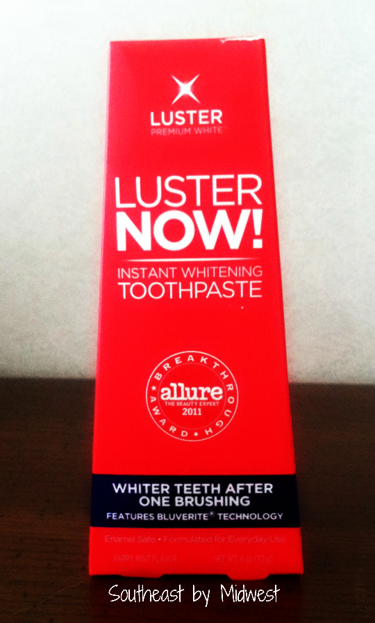 Luster NOW! Instant Whitening Toothpaste