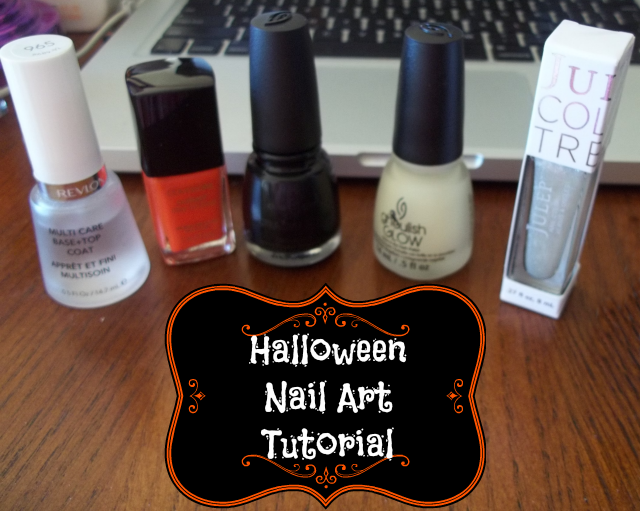 Halloween Nail Art Tutorial on southeastbymidwest.com