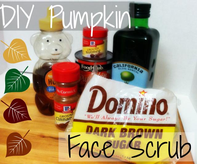 DIY Pumpkin Face Scrub on southeastbymidwest.com