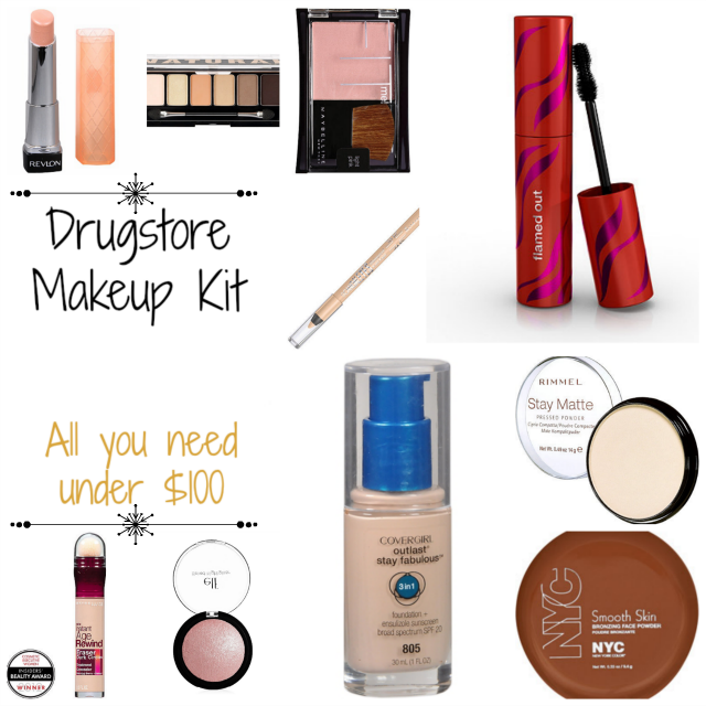 Drugstore Makeup Kit on southeastbymidwest.com