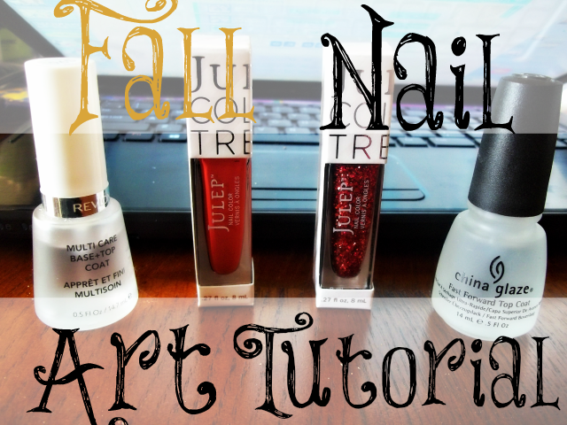 Fall Nail Art Tutorial on southeastbymidwest.com