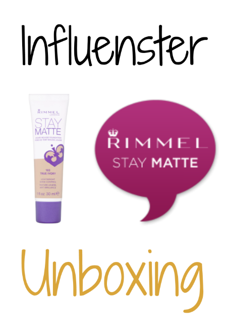 Influenster Unboxing: Rimmel Stay Matte Foundation