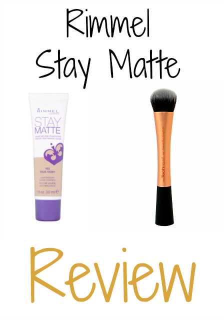 Rimmel Stay Matte Foundation Review on southeastbymidwest.com