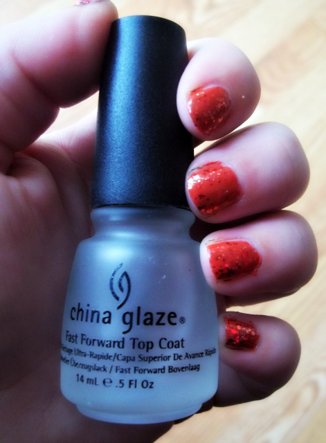 China Glaze Fast Forward Top Coat on southeastbymidwest.com