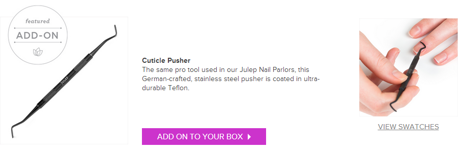 Julep January Cuticle Pusher Featured Add-On on southeastbymidwest.com