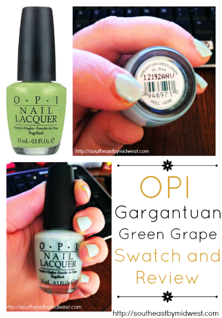 OPI Gargantuan Green Grape Swatch and Review on southeastbymidwest.com