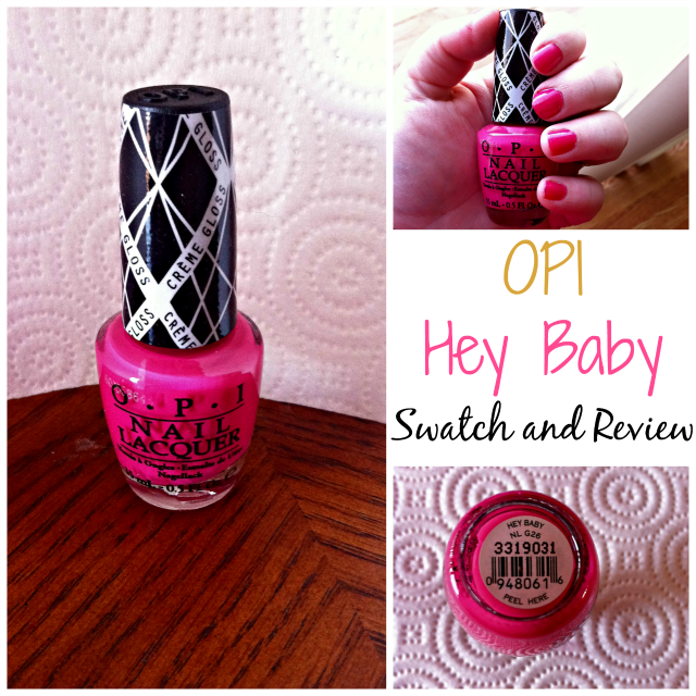 OPI Hey Baby Swatch and Review on southeastbymidwest.com