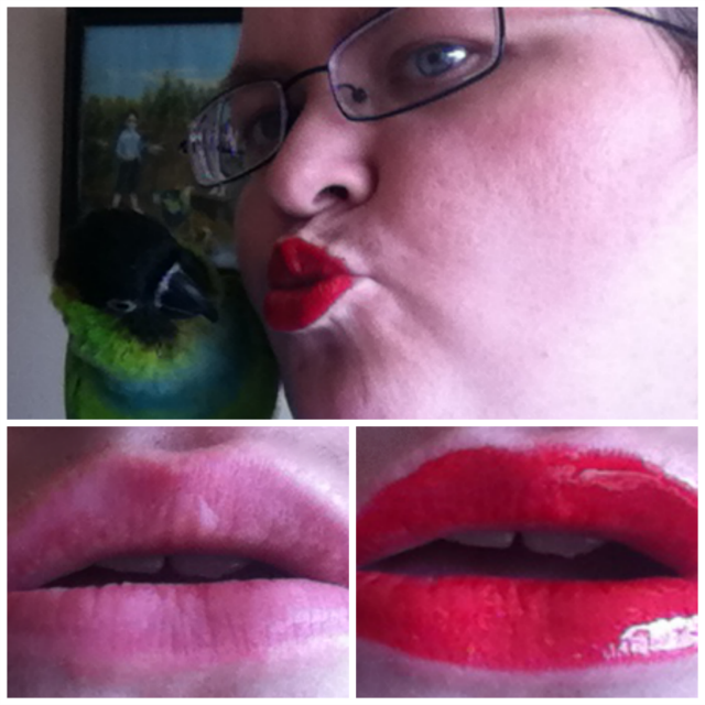 Viva Glam Rihanna Lipglass over Lipstick on southeastbymidwest.com