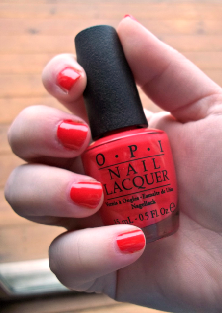 OPI Cajun Shrimp One Coat on southeastbymidwest.com