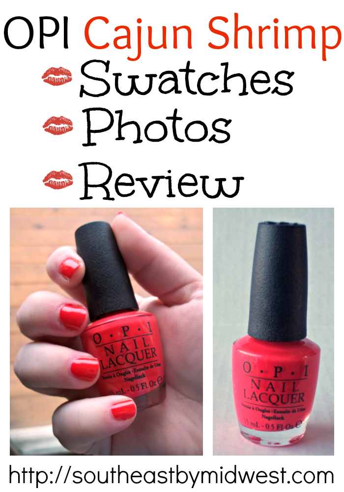 OPI Cajun Shrimp Swatches, Photos, and Review on southeastbymidwest.com