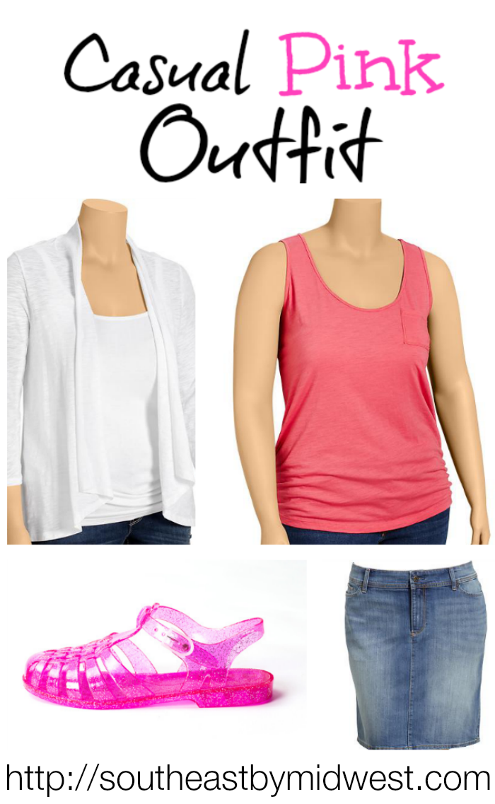 On Wednesday's We Wear Pink Casual Outfit on southeastbymidwest.com #fashion #meangirls