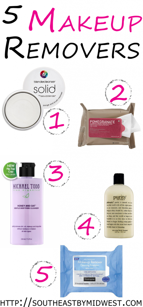 5 Best Makeup Removers on southeastbymidwest.com #beauty #bblogger #makeupremover