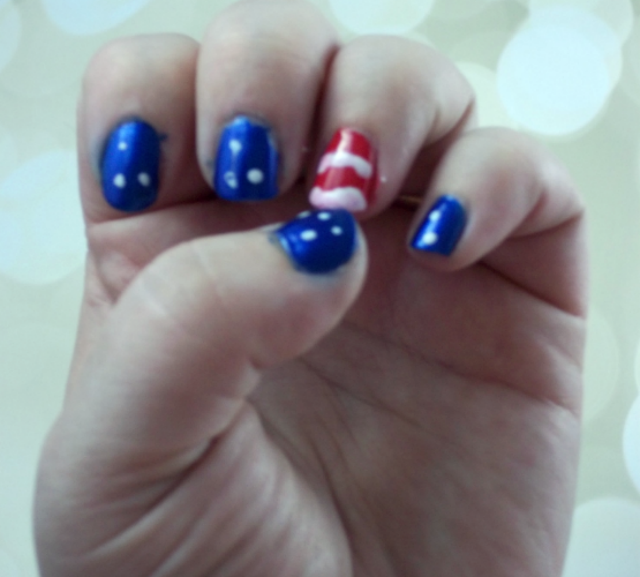 4th of July Nail Art Tutorial Finished on southeastbymidwest.com #nails #nailart #beauty #bblogger #4thofjuly