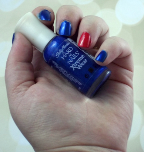4th of July Nail Art Tutorial First Coat Display on southeastbymidwest.com #nails #nailart #beauty #bblogger #4thofjuly