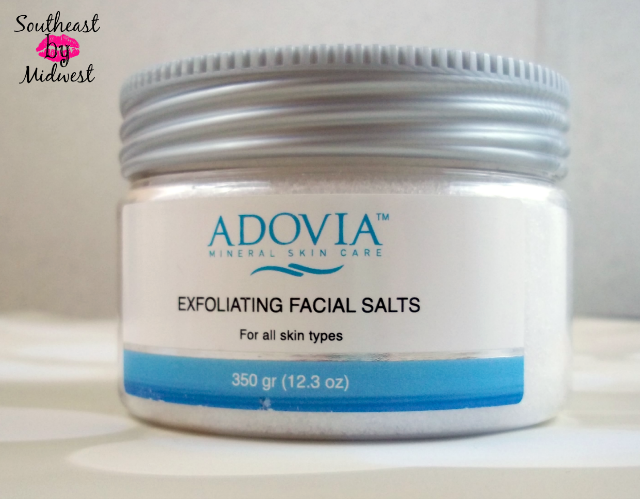 Adovia Exfoliating Facial Salts for All Skin Types on southeastbymidwest.com #beauty #beautyreview #bblogger #adovia