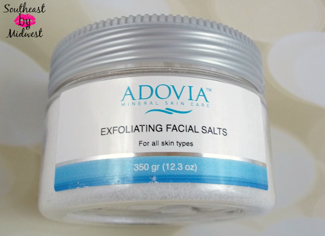 Adovia Exfoliating Facial Salts Packaging on southeastbymidwest.com #beauty #beautyreview #bblogger #adovia