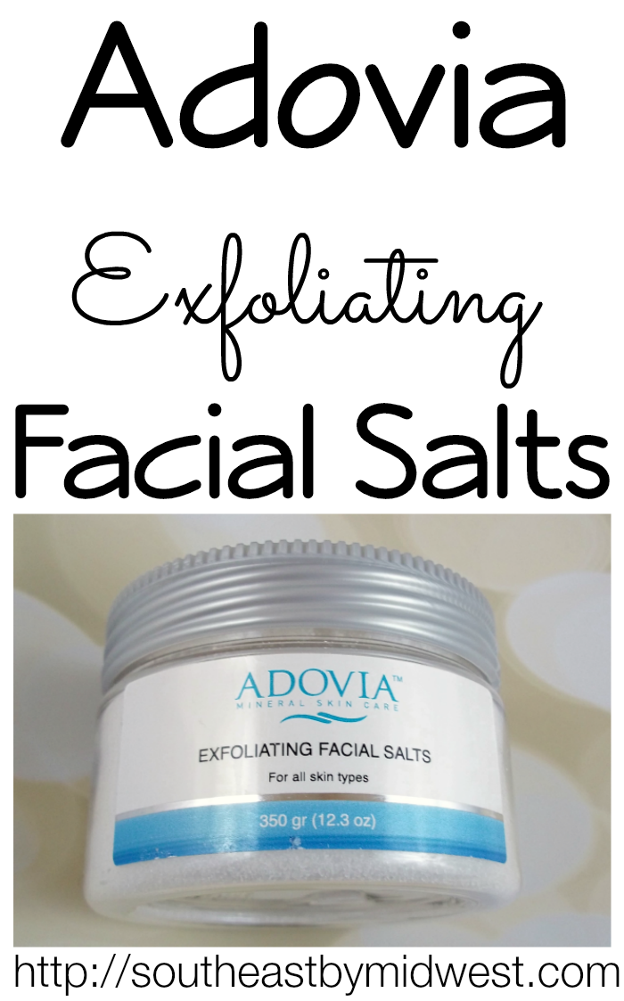 Adovia Exfoliating Facial Salts on southeastbymidwest.com #beauty #beautyreview #bblogger #adovia