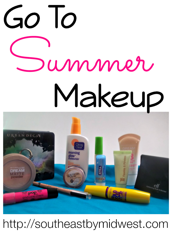 Go to Summer Makeup Look on southeastbymidwest.com #beauty #beautyblogger #bblogger #makeup #urbandecay #maybelline #popbeauty #covergirl #rimmel #cleanandclear #nivea #elf #pixi