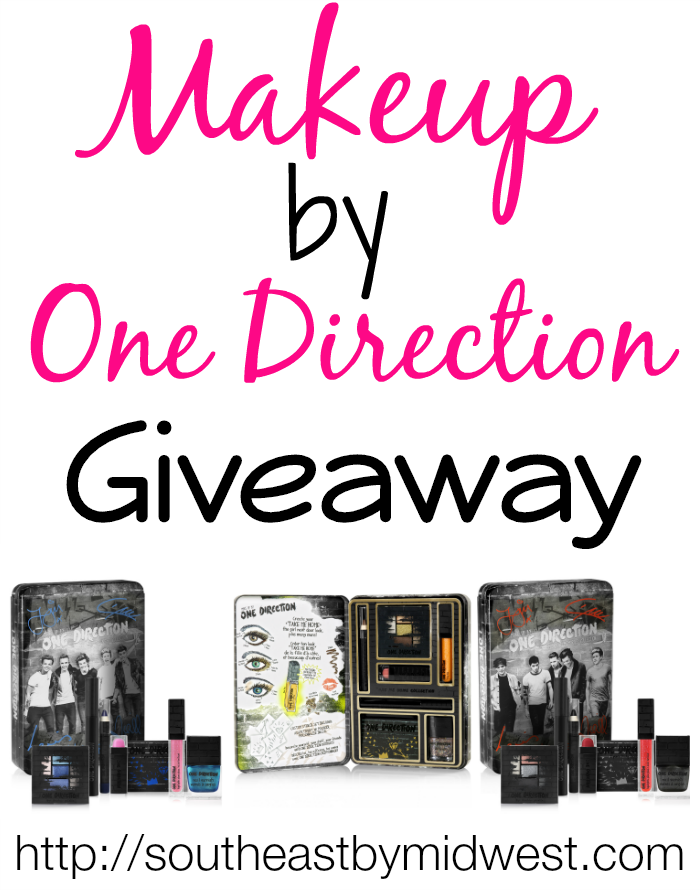 Makeup by One Direction Giveaway on southeastbymidwest.com #giveaway #beauty #bblogger #makeup #onedirection #makeupby1D #thelookscollection #markwins