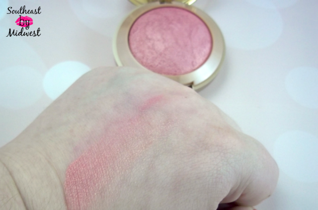 Milani Baked Blush in Dolce Pink Swatch on southeastbymidwest.com #beauty #bblogger #beautyblogger #beautyreview #milani