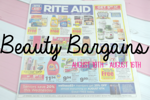 Beauty Bargains August 10th to August 16th Featured Image on southeastbymidwest.com #beauty #bblogger #beautyblogger #beautybargains #cvs #kmart #ulta #riteaid #walgreens