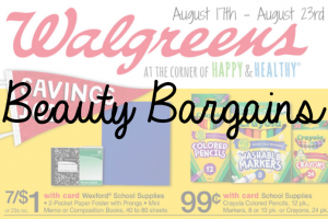 Beauty Bargains August 17th to August 23rd Featured Image on southeastbymidwest.com #beauty #bblogger #beautyblogger #beautybargains #cvs #ulta #riteaid #walgreens
