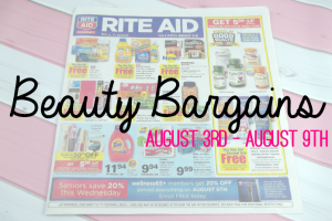 Beauty Bargains: August 3rd - August 9th Featured Image on southeastbymidwest.com #beauty #bblogger #beautyblogger #beautybargains #cvs #kmart #target #riteaid #walgreens