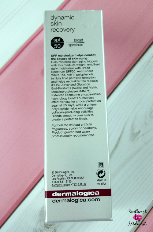 Dermalogica Dynamic Skin Recovery Back of Packaging on southeastbymidwest.com #beauty #bblogger #skincare #DermalogicaDefence
