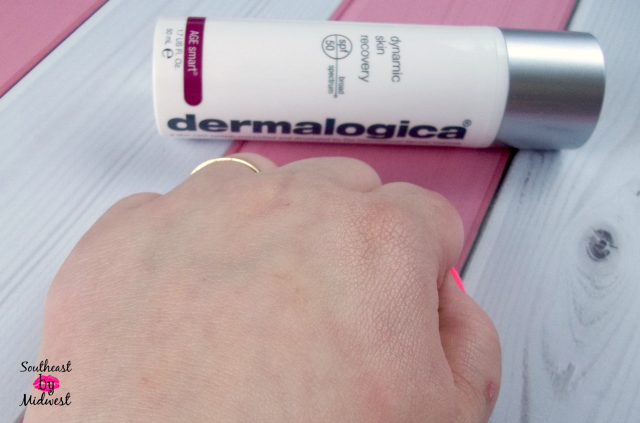 Dermalogica Dynamic Skin Recovery Lotion Absorbed on southeastbymidwest.com #beauty #bblogger #skincare #DermalogicaDefence