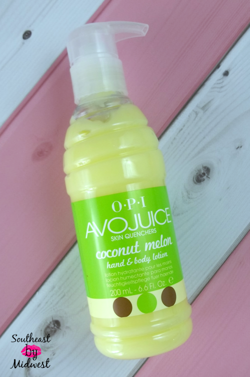OPI AvoJuice in Coconut Melon Packaging on southeastbymidwest.com #beautycarechoices #opi #avojuice #bblogger #beautyblogger