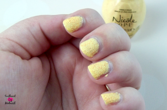 Nicole by OPI Roughles in Sand in My Shoe Two Coats on southeastbymidwest.com #nicolebyopi #opi #roughles #sandinmyshoe
