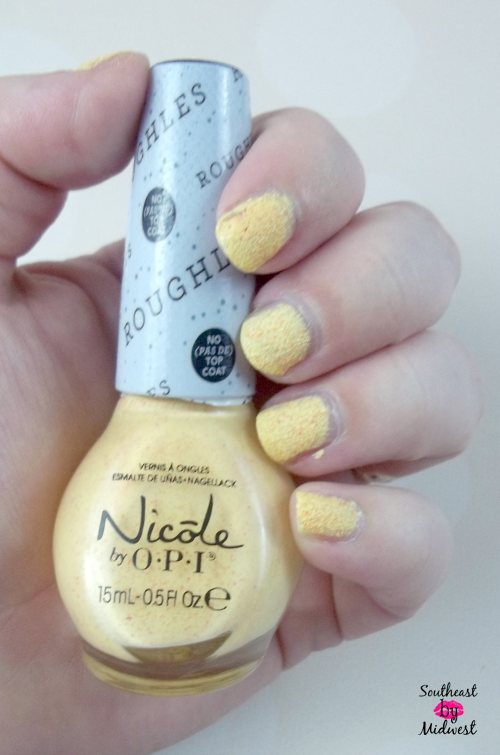 Nicole by OPI Roughles in Sand in My Shoe Bottle on southeastbymidwest.com #nicolebyopi #opi #roughles #sandinmyshoe