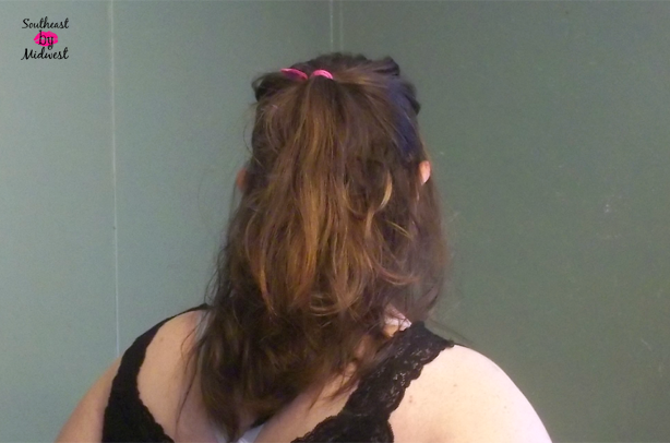 Sexy Half Ponytail from the Back on southeastbymidwest.com #HeartMyHair #CollectiveBias #ad #cbias