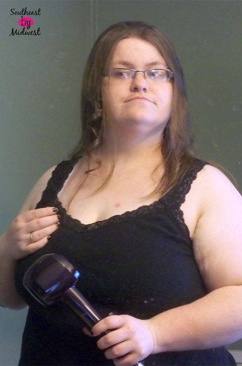 First Curl with the Infiniti Pro by Conair Curl Secret on southeastbymidwest.com #HeartMyHair #CollectiveBias #ad #cbias
