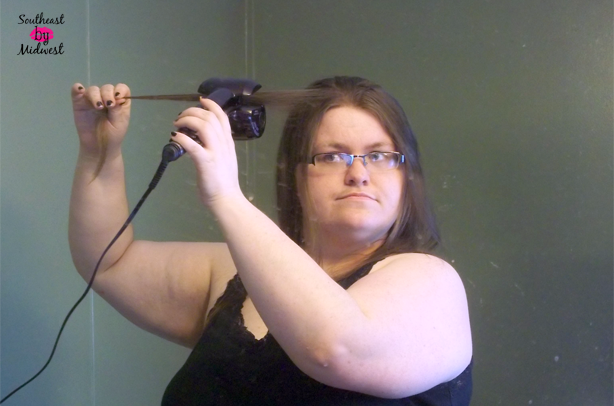 Using the Infiniti Pro by Conair Curl Secret on southeastbymidwest.com #HeartMyHair #CollectiveBias #ad #cbias