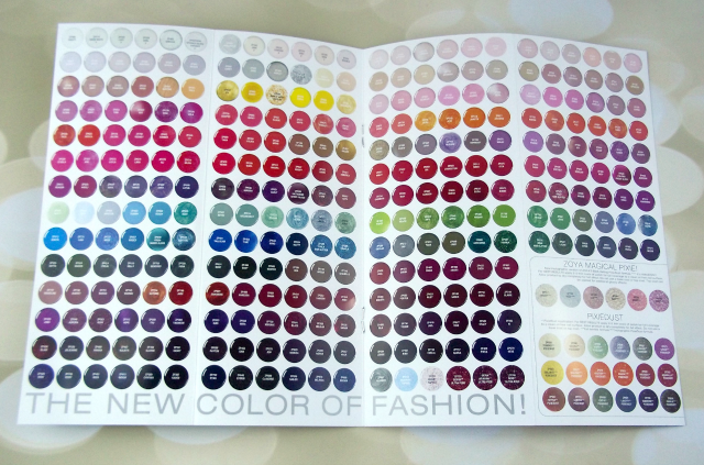 Zoya Wishes Preview Pamphlets Color Chart on southeastbymidwest.com #zoya #haul #zoyahaul #zoyawishes