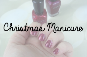 Christmas Manicure with Zoya Kierra and Zoya Astra