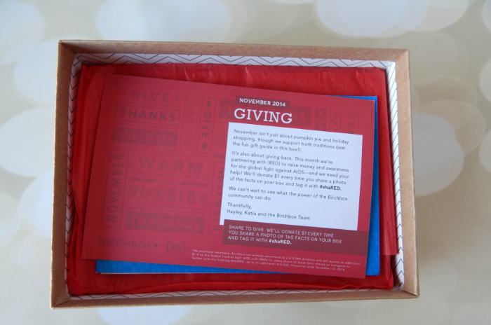 The November 2014 Birchbox Unboxing