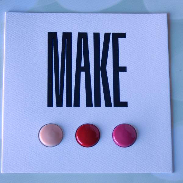 One item I received in my November Birchbox was a set of Make Lip Products. This set featured the Make Lip Primer, Make Silk Lipstick in Maraschino Cherry and Make Silk Lipstick in Magnolia
