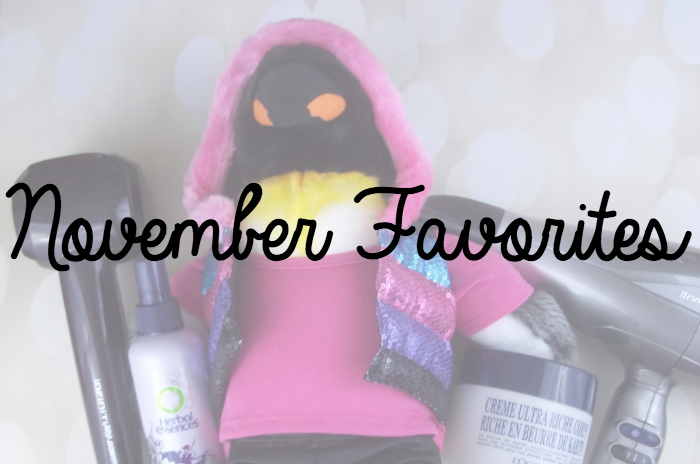 November Favorites Featured Image on southeastbymidwest.com #monthlyfavorites #novemberfavorites #curlsecret #3QDryer #conair #herbalessences #loccitane #buildabear