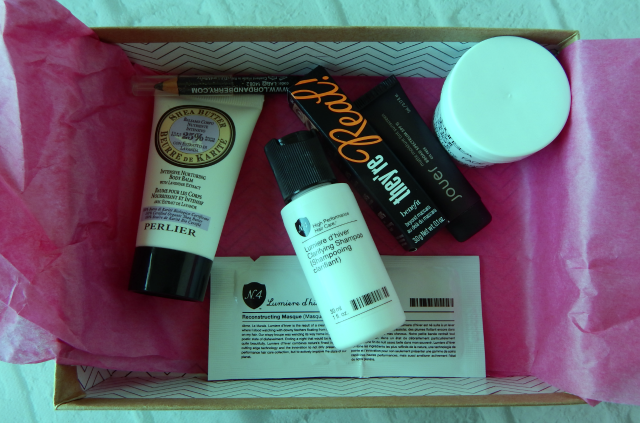 All of the items I received in my October BIrchbox.