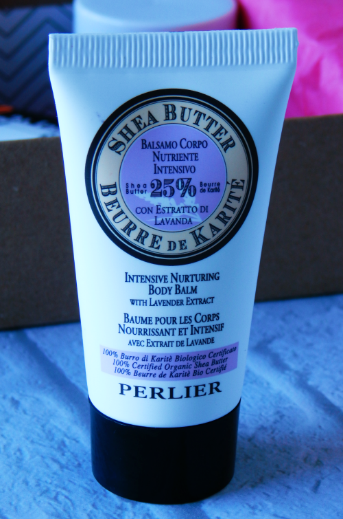 One item that I received in my October Birchbox is the Perlier Lavender Body Balm.
