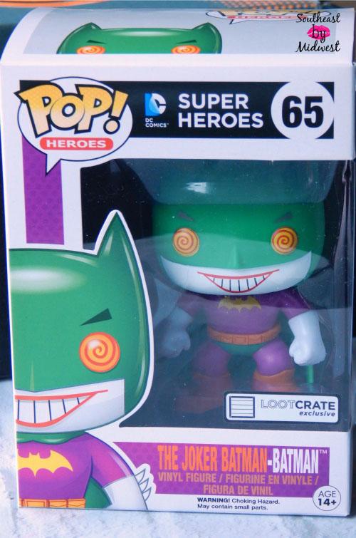 One item in the December Loot Crate was The Joker Batman Pop Vinyl