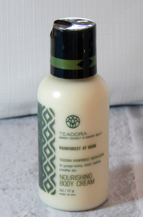 One of the items in the January Ipsy bag was a Teadora Rainforest at Dusk Body Cream