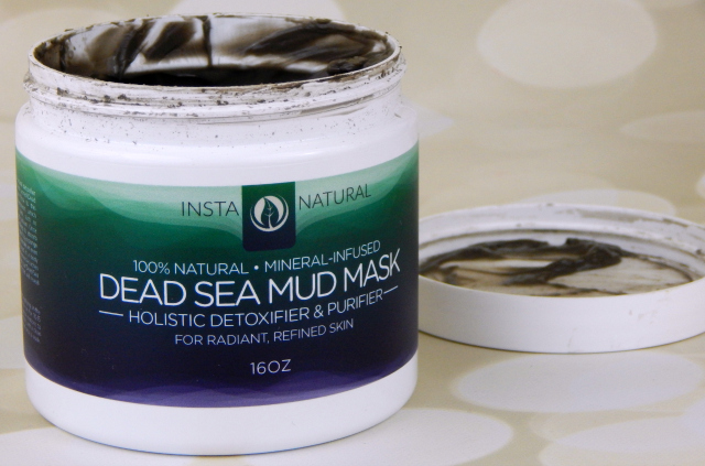 InstaNatural Dead Sea Mud Mask Open Container