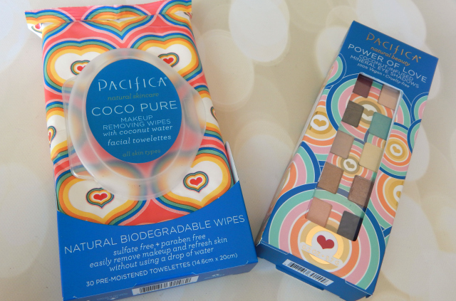 Pacifica Review and Giveaway Pacifica Power of Love Eye Shadow Palette and Pacifica Coco Pure Makeup Remover Wipes