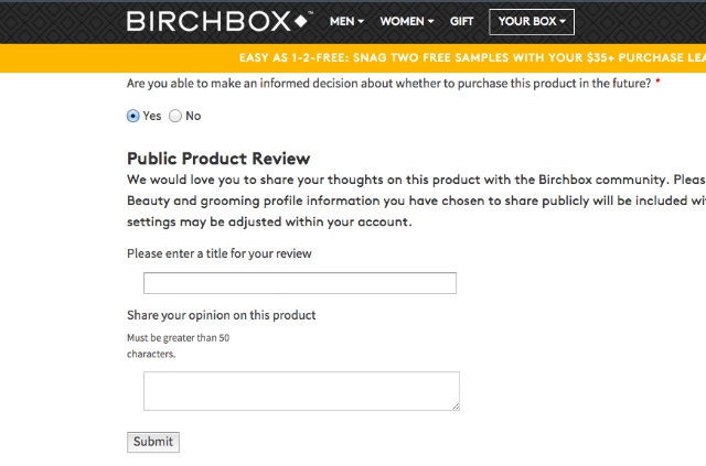 How Does Birchbox Work Step 8