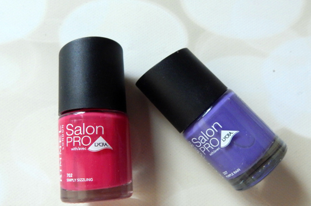 Two products I got in my CVS Haul were Rimmel Salon Pro Nail Polishes