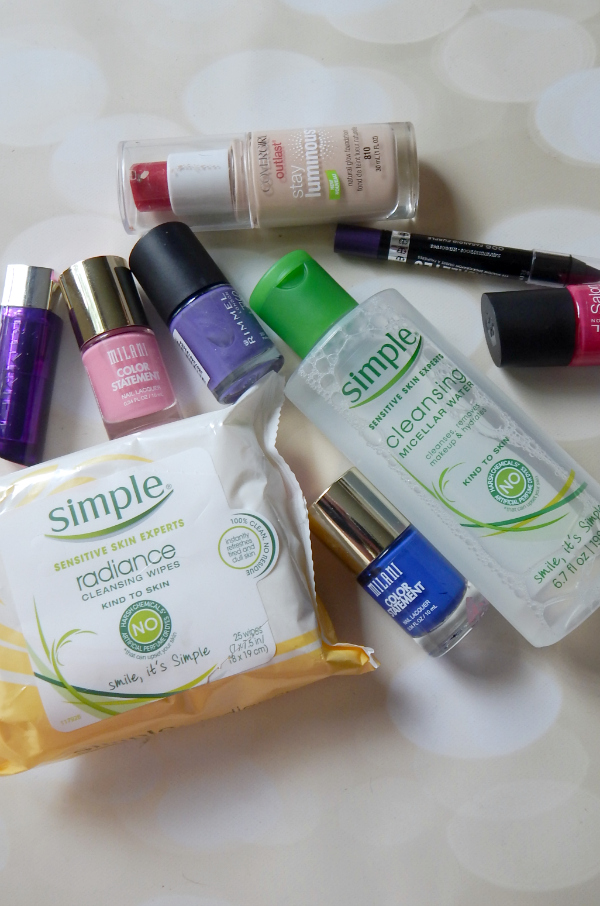 CVS Haul featuring products from Simple, Rimmel, Milani, and CoverGirl #makeup #beauty #cosmetics #haul #Simple #Rimmel #Milani #CoverGirl