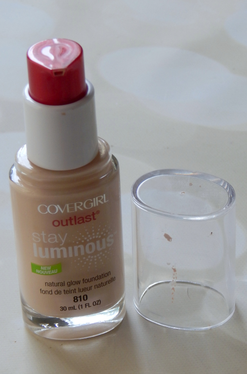 CoverGirl Stay Luminous Foundation Bottle Standing Up